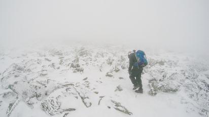 En route vers le sommet du mont Washington