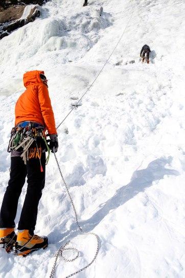 François, ami et guide d'escalade glace | Crédit photo: Mathieu Grenier