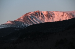 Lever de soleil sur les White Mountains le matin de l'ascension!
