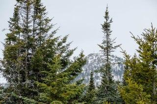 Vue du sommet lors de la descente
