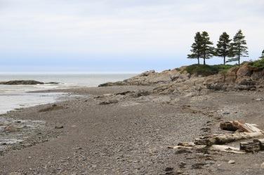 Dans la baie de l'Île du Massacre.
