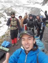 Notre équipe à notre arrivée à 4400 mètres d'altitude