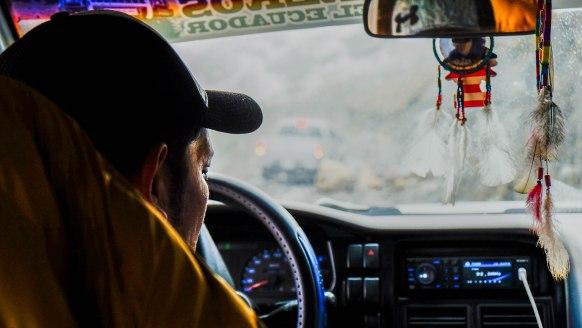 Dans le camion vers le cayambe