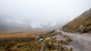Le route vers le Cayambe