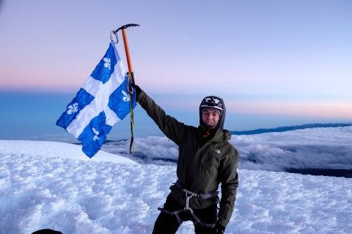 Moi au sommet du Chimborazo, 6310m
