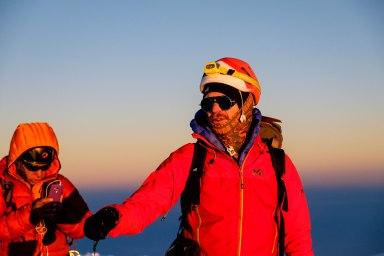 Ian au sommet du Chimborazo, 6310m