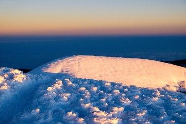 Ventimilia peak, 6267m, lors du levé de Soleil