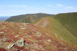 Sommet du Mont Collins avec la vue sur le Mont Logan au loin.