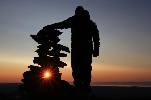 Sommet du Mont Logan au coucher de soleil. Crédit photo: Jonathan B.