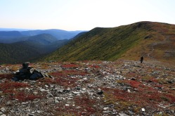 Tout juste avant le sommet du Mont Collins. Crédit photo: Jonathan B.