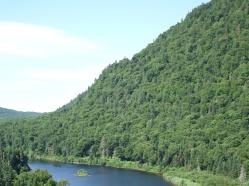Été, côté rivière Jacques-Cartier
