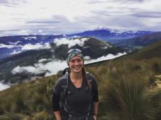 Marie-Pier en Équateur en Décembre 2016