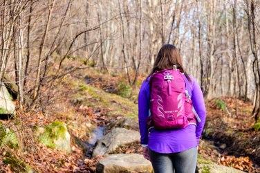 Sonia en route vers le sommet