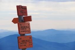 Sommet du mont Moosilauke (4802 ft).