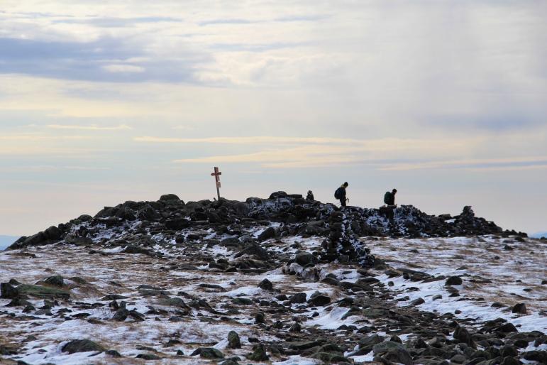 Quelques randonneurs au sommet du mont Moosilauke (4802 ft).