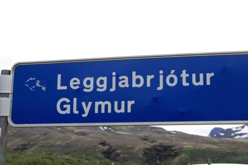 Départ du sentier Glymur.