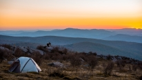 Un campement au sommet des montagnes en Virginie - Crédit photo: blog.virginia.org